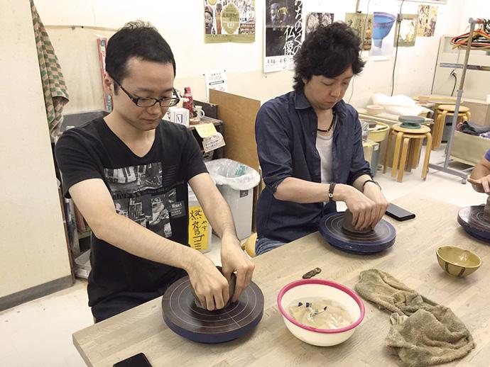 飯椀作り体験風景1