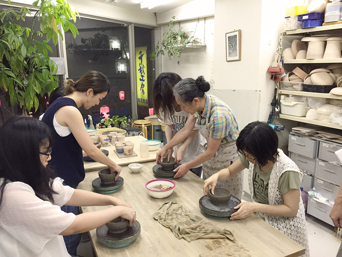 飯椀作り体験風景2